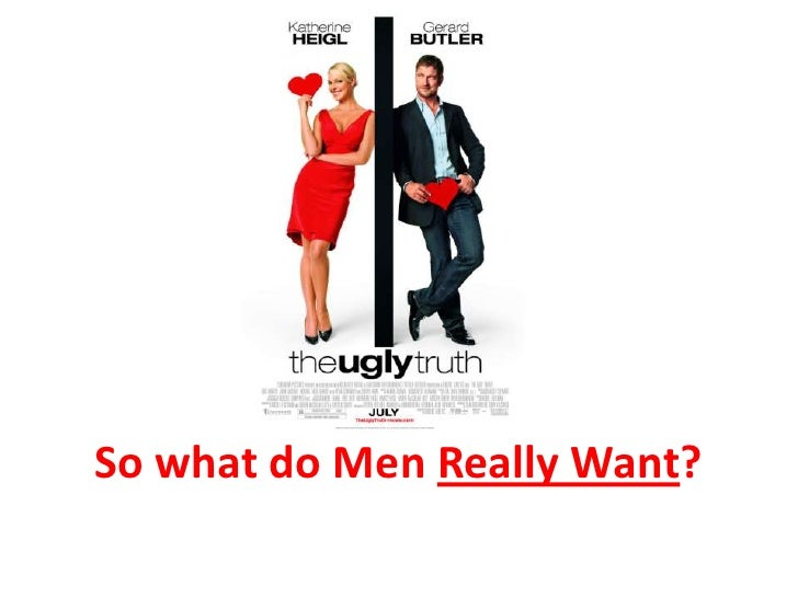 So what do Men Really Want?<br />