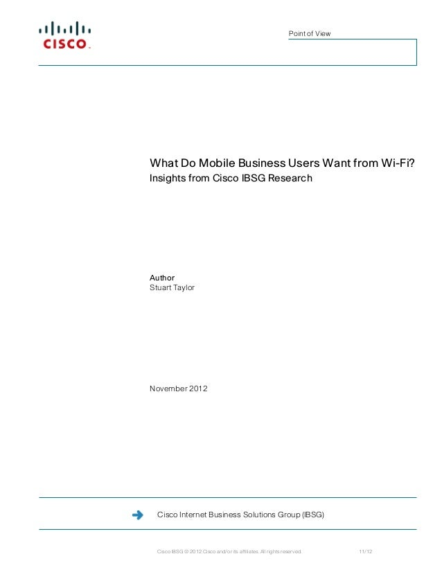What do Mobile Business Users Want From Wi-Fi?