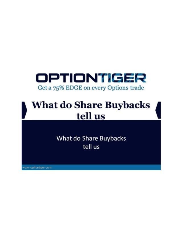 What do Share Buybacks tell us Over the last few years, we've heard a lot about share buybacks. In fact, share buybacks ar...