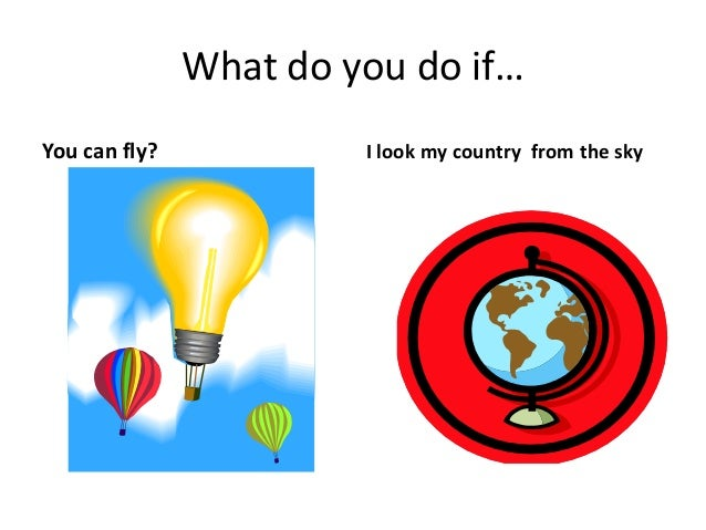 What do you do if… You can fly? I look my country from the sky