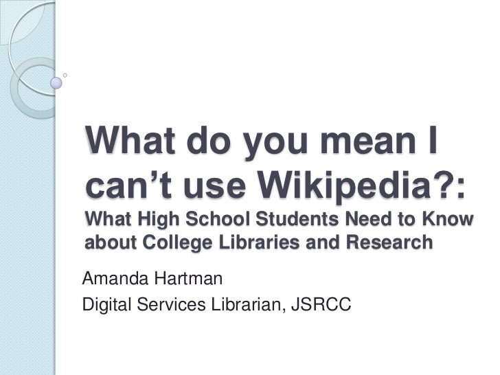 What do you mean i can't use wikipedia