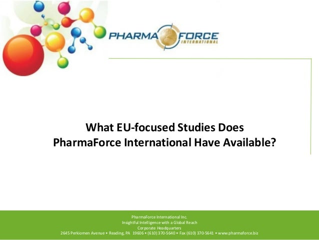 What EU-focused Studies Does PharmaForce International Have Available?