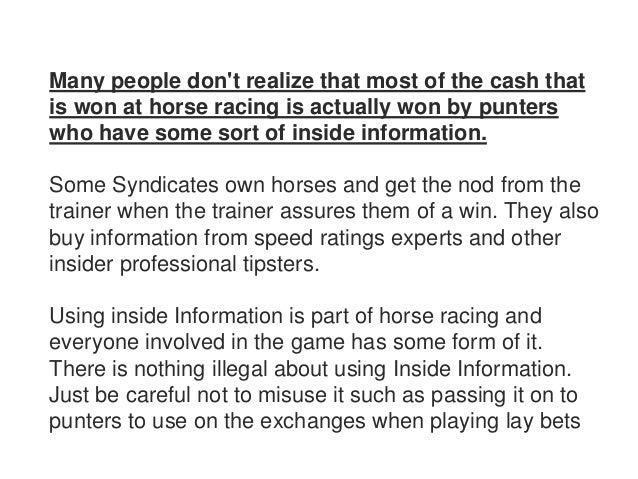 horse betting insider information