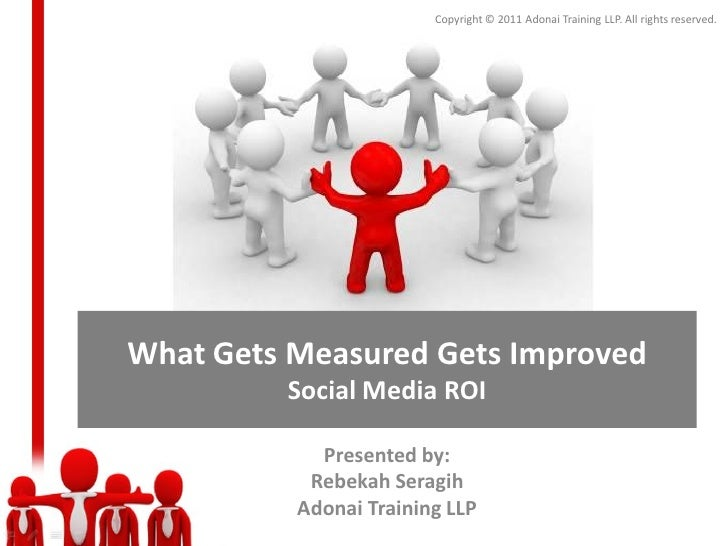 Copyright © 2011 Adonai Training LLP. All rights reserved.What Gets Measured Gets Improved         Social Media ROI       ...
