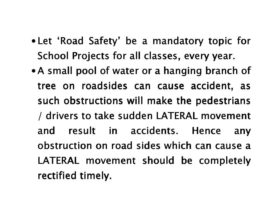 essay about how to prevent road accident