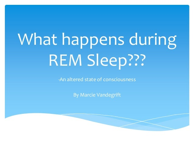 What Happens During Rem Sleep Powerpoint