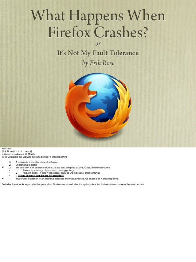 What happens when firefox crashes?