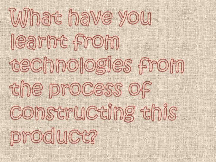 Technologies used whilst producing mySoftware Used: Music magazine...Photoshop CS3                                I used m...