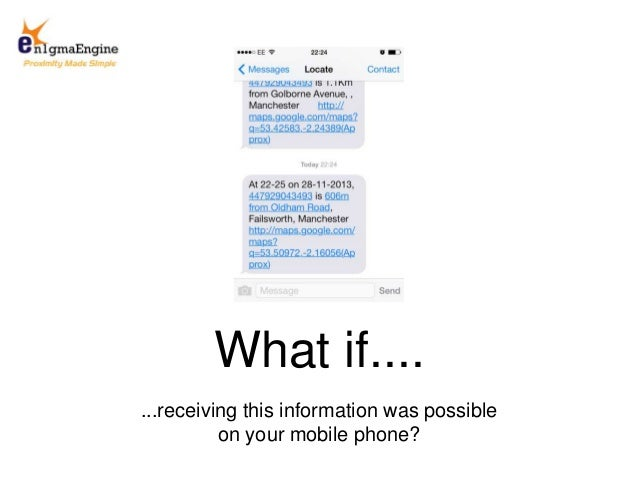 ...receiving this information was possible on your mobile phone? What if....