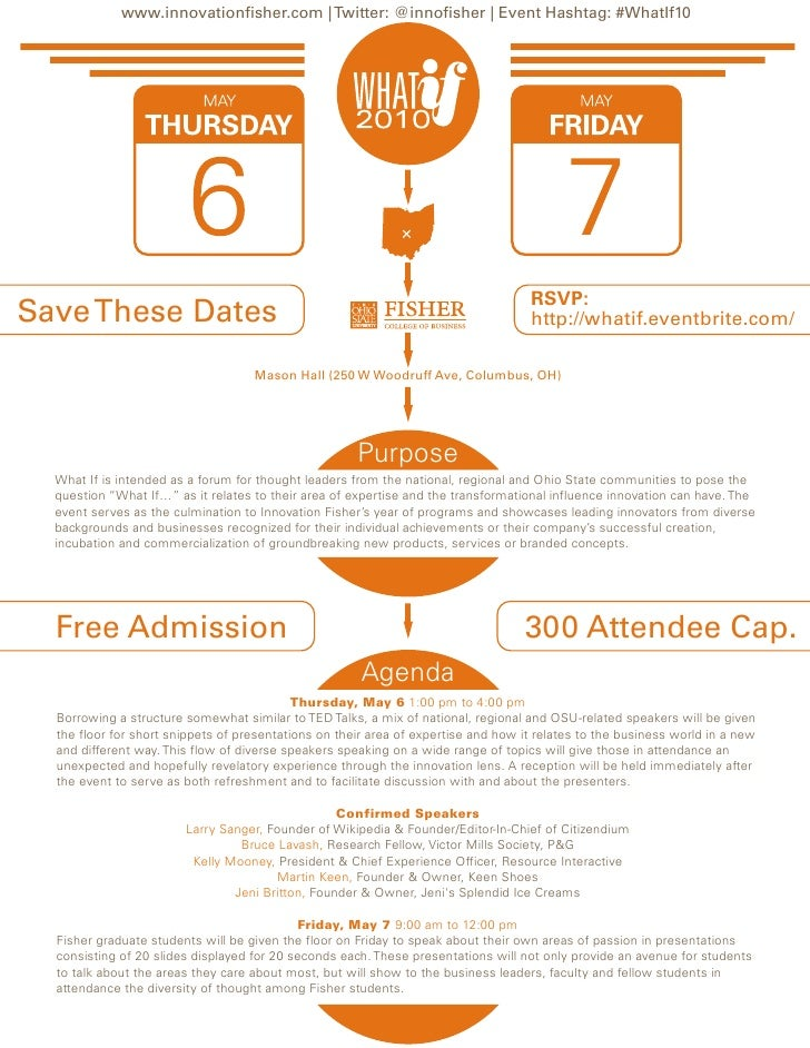 www.innovationfisher.com | Twitter: @innofisher | Event Hashtag: #WhatIf10                                                ...