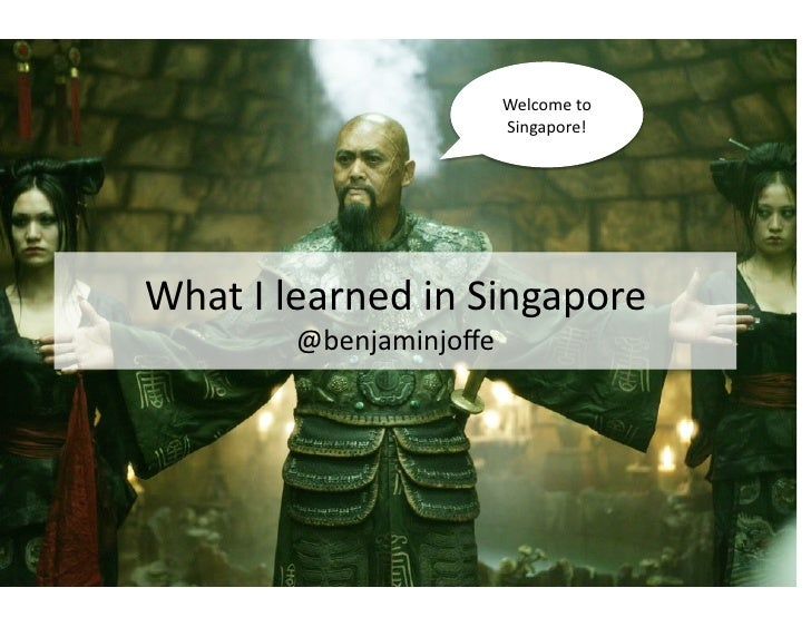 What I Learned From Singapore