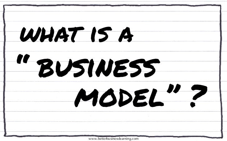 "What is a ""BUSINESS MODEL""?"