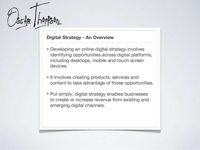 What is a digital strategy