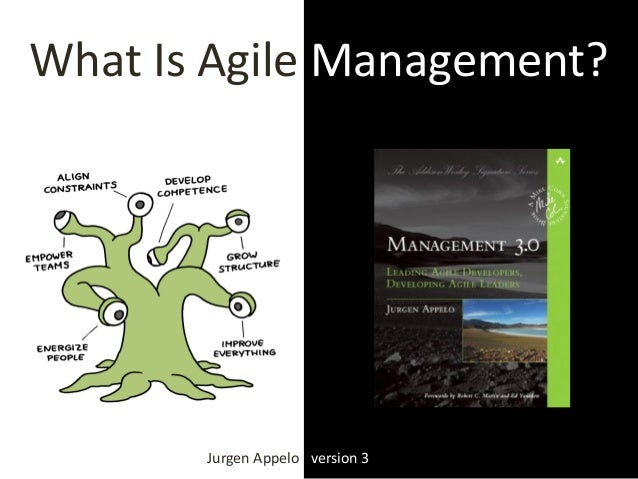 What Is Agile Management? Jurgen Appelo version 3