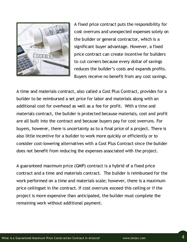 What is a guaranteed maximum price construction contract for Cost plus building contract template