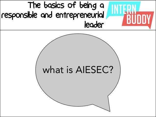 Intern Buddy: AIESEC Way