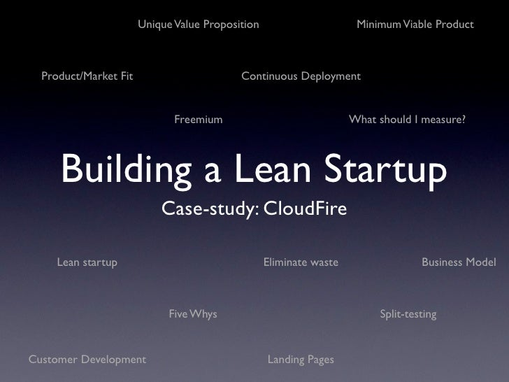 Building a Lean Startup