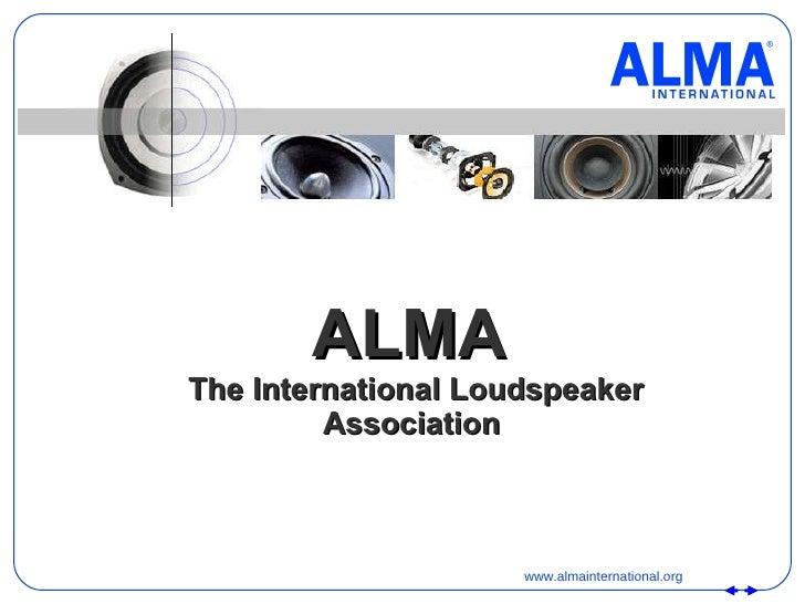 ALMA   The International Loudspeaker Association