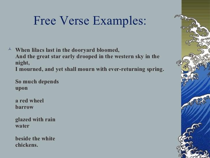 free verse poem examples yahoo dating
