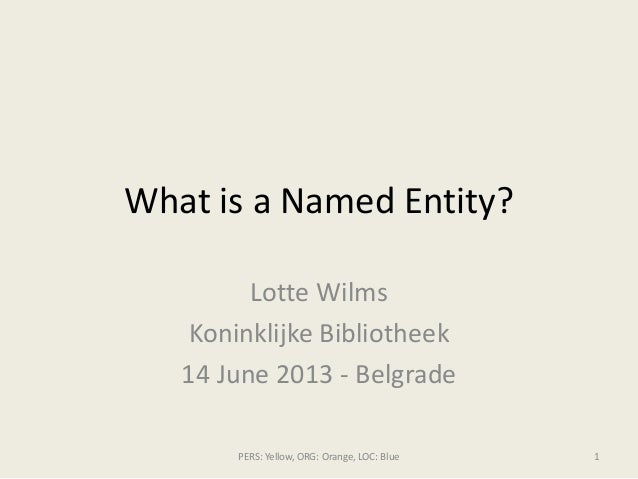 What is a named entity