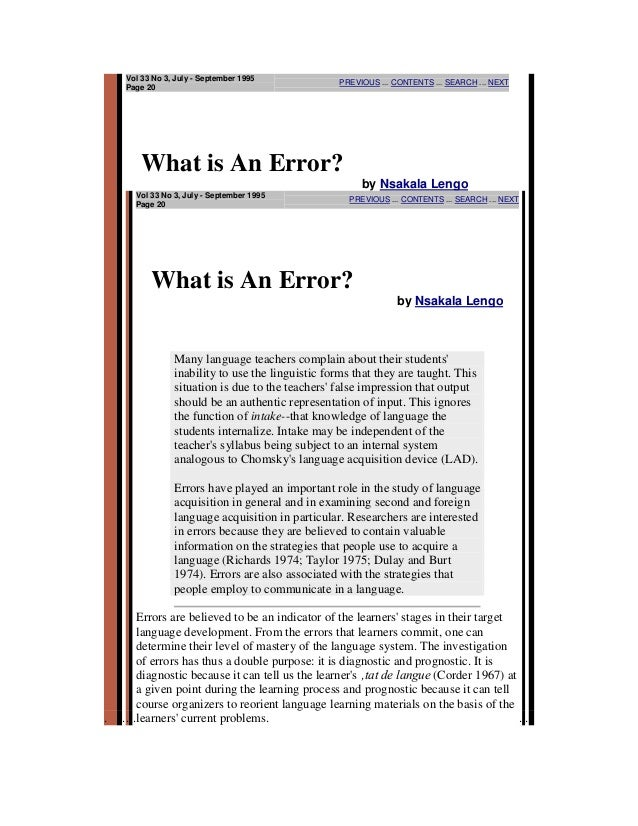 What is an errors