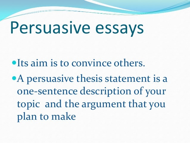 what is a thesis in an essay
