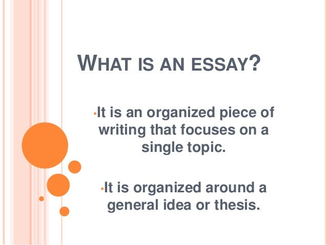 What is essay