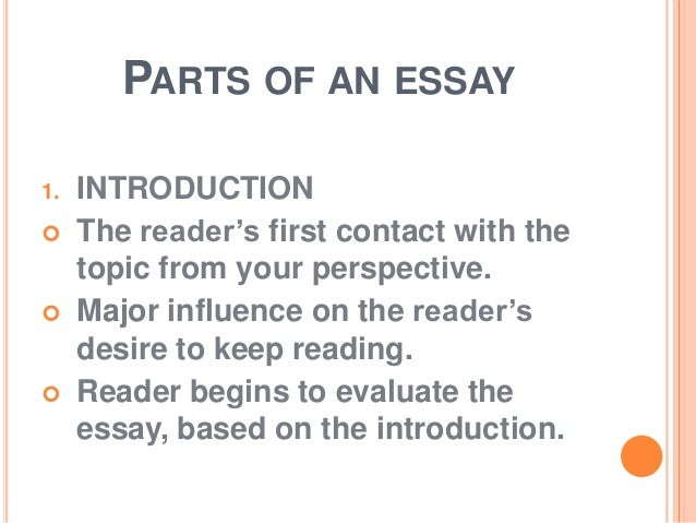 what are the main components of an essay Components of an introduction as you have seen, an introduction may include various components here is a list of the typical components of introductions.