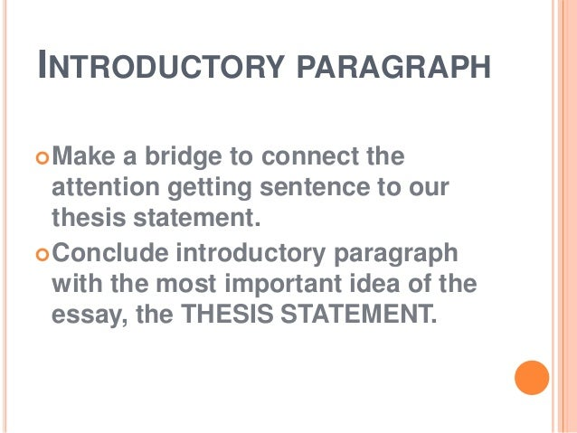New approach at an essay thesis?