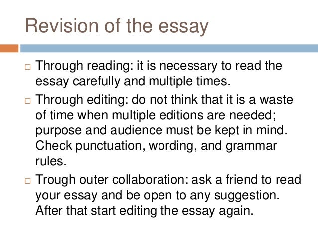 the importance of revision essay Revising your paper but more important than grades is that revising your papers teaches you to of revision, it's very important that you get an early start on.