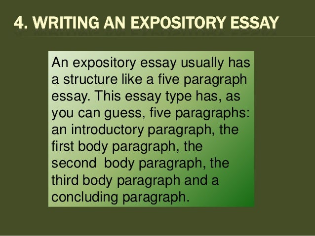 write an expository essay identity