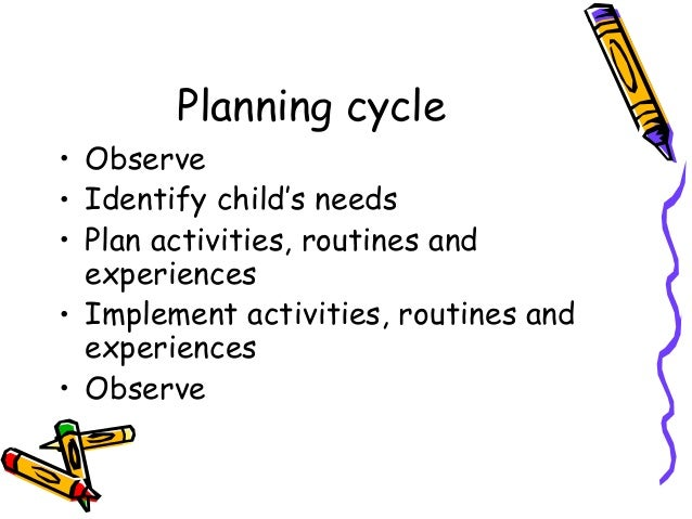 observation assessment and planning cycle in childcare Observation, assessment and planning  however, following the decision to  abandon on-entry assessment of children entering reception  with an orchestra  that visits them regularly to work with a nursery or reception class, helping them  to.