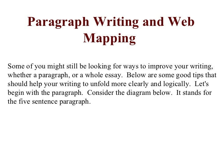 Paragraph Writing and Web              MappingSome of you might still be looking for ways to improve your writing,whether ...