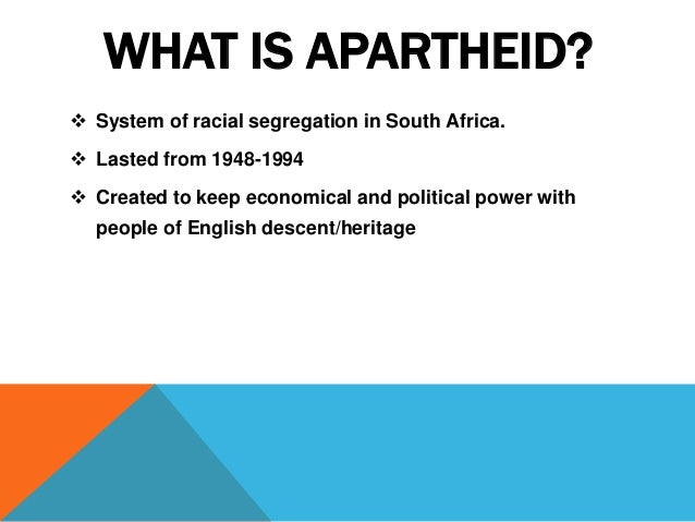apartheid in south africa thesis I declare that this thesis is my own unaided work it is submitted for  and  racialised identities in post-apartheid south africa by exploring the narratives of  black.
