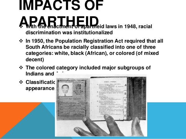 EFFECTS OF APARTHEID IN SOUTH AFRICA Essay Sample