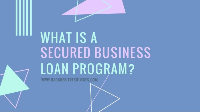 What is a Secured Business Loan Program?