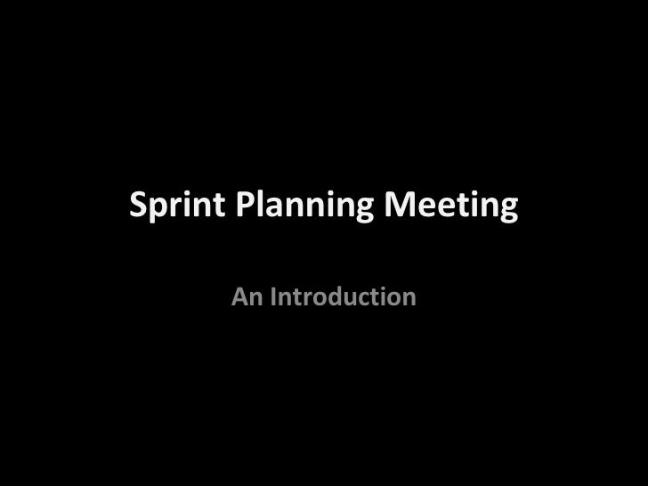What Is A Sprint Planning Meeting