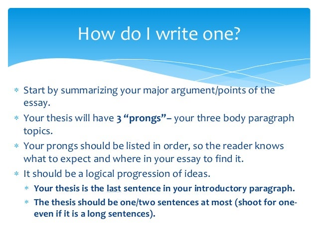 three pronged thesis Return to history standard three teaching tools index  suggested task 1:  read each paragraph and summarize (paraphrase) each thesis.