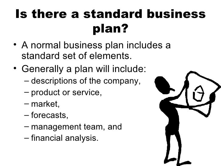 Business plan includes