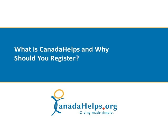 What is CanadaHelps and WhyShould You Register?