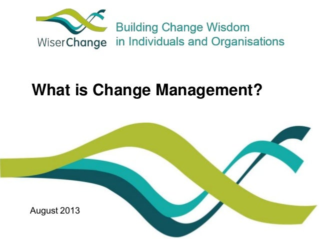 What is Change Management?  August 2013