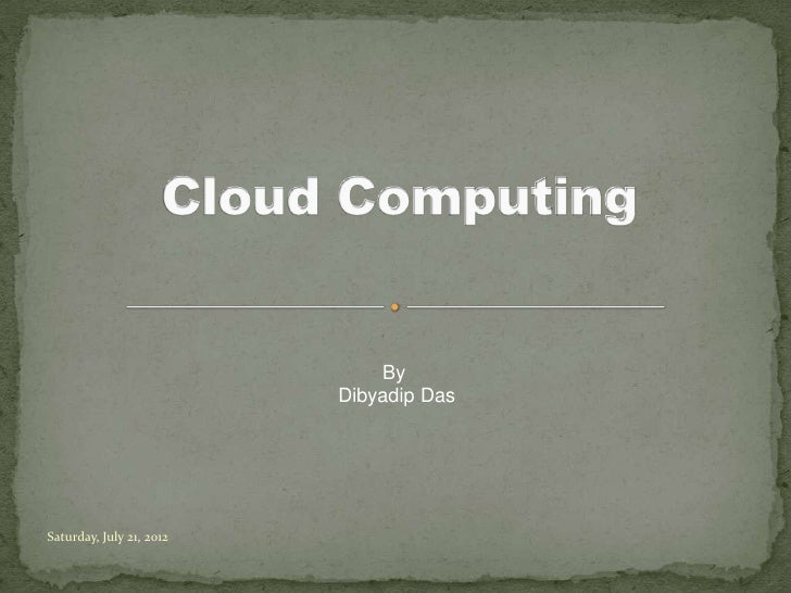 What is cloud ?