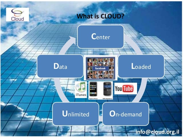 Center Loaded On-demandUnlimited Data What is CLOUD? info@cloud.org.il