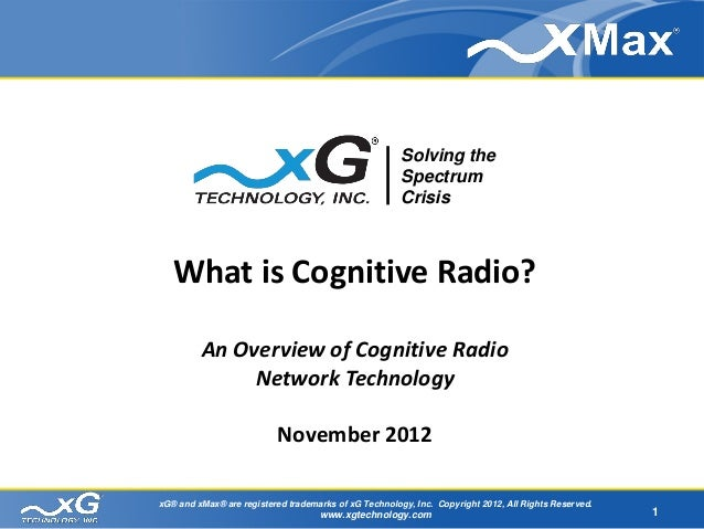 What is Cognitive Radio?