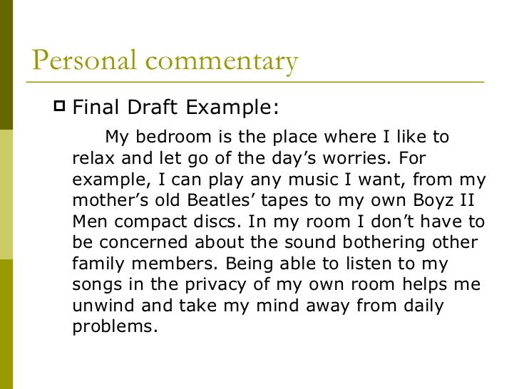 Bedroom essay