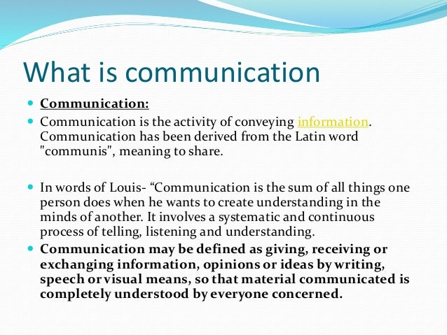 the importance of communication in understanding one another This paper focuses on the importance of communication in project management  importance of communication in  the project team also relied on one another.