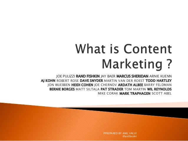 What is content marketing ? - Experts Point of Views