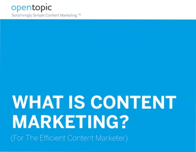 • opentopic Surprisingly Simple Content Marketing ""