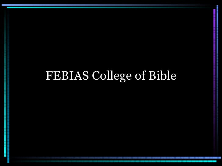 FEBIAS College of Bible
