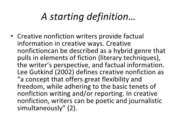 great creative nonfiction essays Check out these six simple guidelines for writing creative nonfiction keep up the great work steve top 10 reasons why creative nonfiction is a questionable.
